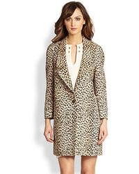 Diane von Furstenberg Britta Leopard Jacquard Jacket
