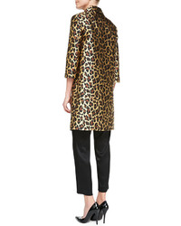 2e5d57ca4874 ... St. John Collection Long Leopard Print Topper With 34 Sleeves Gold