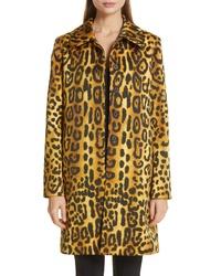 Adam Lippes Jaguar Print Duchesse Satin Coat