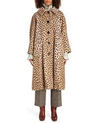 Marc Jacobs Leopard Alpaca Cotton Coat