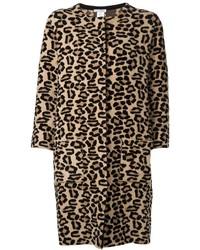 Oscar de la Renta Leopard Print Coat