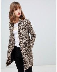Stradivarius Leopard Print Coat