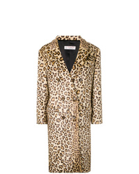 Alberto Biani Leopard Print Double Breasted Coat