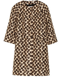 RED Valentino Leopard Print Faille Coat