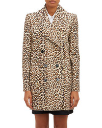 Carven Leopard Spot Double Breasted Coat