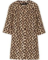 RED Valentino Redvalentino Leopard Print Faille Coat