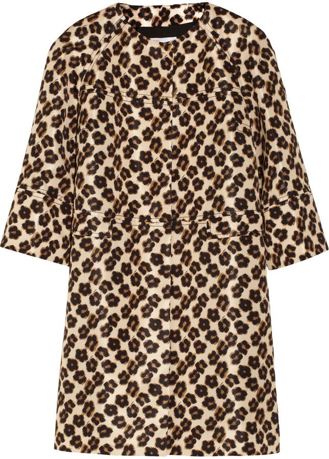 65e18589d0f4 RED Valentino Redvalentino Leopard Print Faille Coat, $995 ...