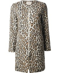 Sea Leopard Print Coat