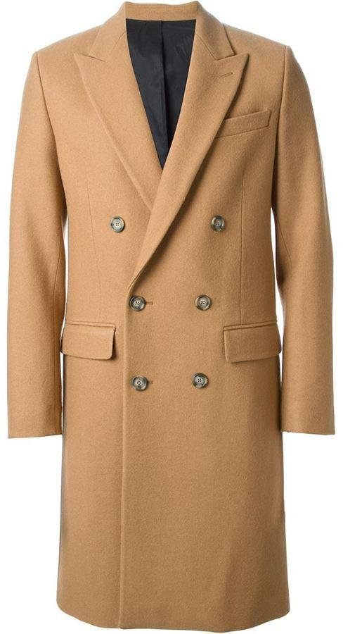 Ami Alexandre Mattiussi Classic Double Breasted Coat | Where to ...