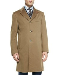 Isaia Aquaspider Single Breasted Overcoat