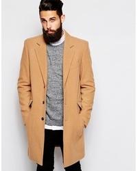 Asos Wool Overcoat Camel