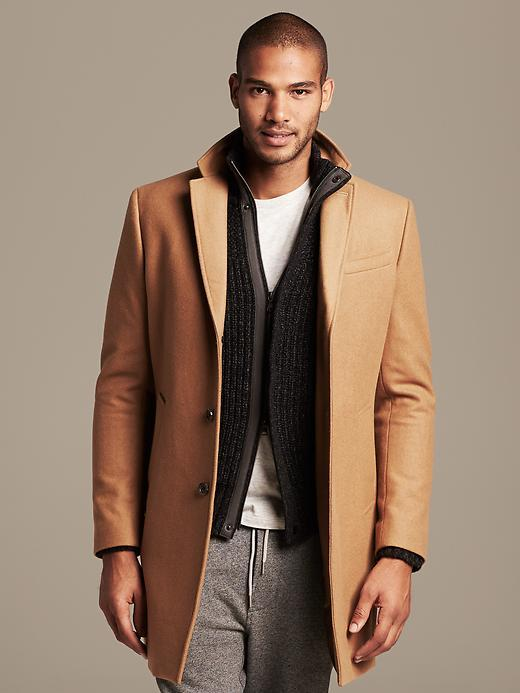 unbeatable price 2019 best sell 100% high quality $298, Banana Republic Camel Wool Topcoat