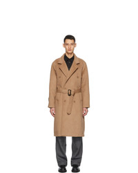 Winnie New York Beige Notch Lapel Overcoat
