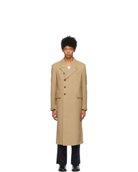 System Beige Side Button Coat