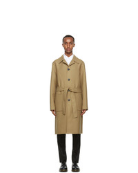AMI Alexandre Mattiussi Beige Unstructured Car Coat