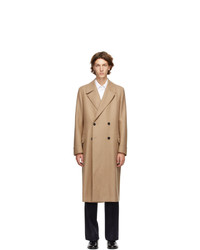 Husbands Beige Wool Double Breasted Coat