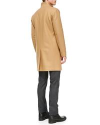 Theory Belvin Wool Blend Coat Camel