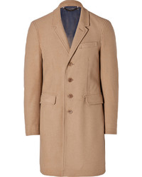 Burberry Brit Wool Cashmere Lyndon Coat In Camel