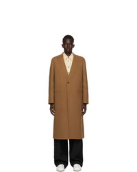 Jil Sander Brown Cashmere Coat