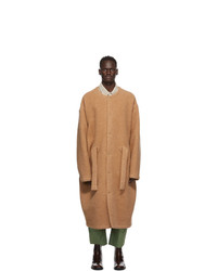 Hed Mayner Brown Wool Over Coat