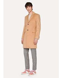 Paul Smith Camel Wool And Cashmere Blend Overcoat