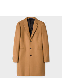 Paul Smith Camel Wool Cashmere Overcoat