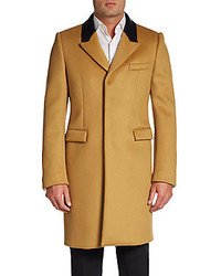 Burberry Cashmere Leather Collar Topcoat