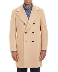 Luciano Barbera Double Breasted Overcoat Nude Size 44