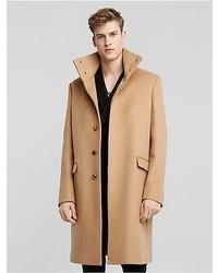 Calvin Klein Doubleface Cashmere Stand Collar Overcoat Camel 48