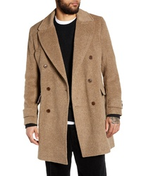 WAX LONDON Elwin Double Breasted Wool Blend Coat