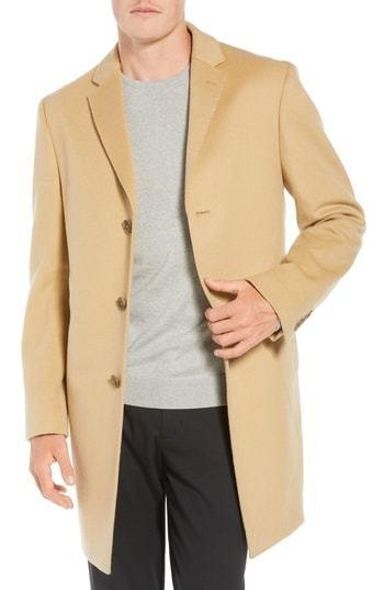 John W. Nordstrom Mason Wool Cashmere Overcoat