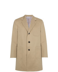 Thom Browne Silk Single Breasted Two Button Overcoat