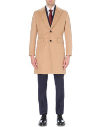 Hardy Amies Single Breasted Wool And Cashmere Blend Overcoat
