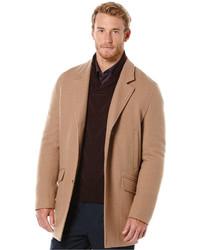 Perry Ellis Solid Wool Topcoat