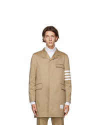 Thom Browne Tan 4 Bar Unconstructed Chesterfield Coat