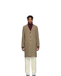 Harris Wharf London Tan Virgin Wool Overcoat