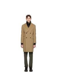 Z Zegna Tan Wool Moscova Over Coat