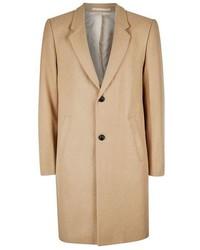 Topman Camel Wool Blend Overcoat