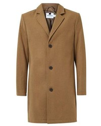 Topman Camel Wool Rich Overcoat