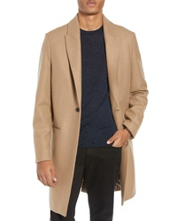 AllSaints Tulsen Regular Fit Wool Topcoat