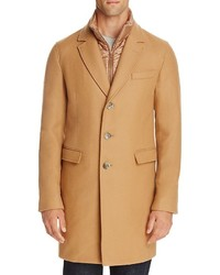 Herno Wool Blend Overcoat With Bib