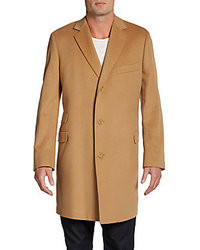 Saks Fifth Avenue RED Wool Cashmere Coattrim Fit
