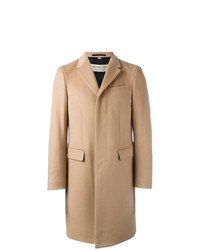 Burberry Wool Cashmere Tailored Coat Nude Neutrals