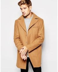 Esprit Wool Overcoat In Camel