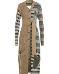 Maison Margiela Patchwork Knit Cardigan Coat