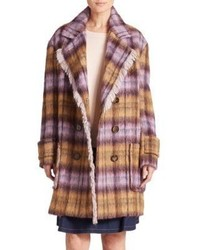 See by Chloe Fringed Plaid Coat