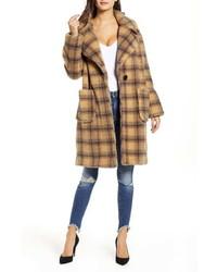 Kendall & Kylie Plaid Teddy Coat