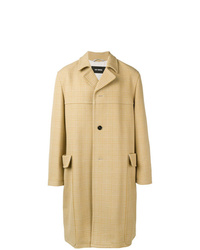 Camel Plaid Overcoat