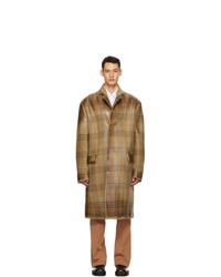 Marni Brown Wool Overcheck Coat