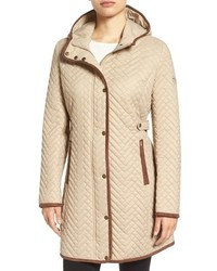 Camel Quilted Coat